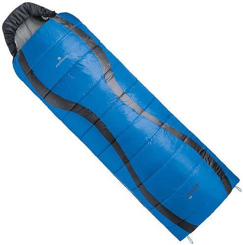 Спальный мешок Ferrino Yukon SQ/+10°C Blue (Left) 922934, синий / серый