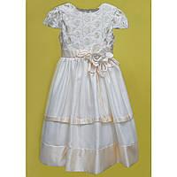 Rolly Платье праздничное р116-128 кремовый/бежевый