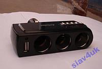 Разветвитель Тройник 12-24V USB 1x0,5A 303 Тройник в прикуриватель, Разветвители для прикуривателя