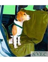 Автогамак - накидка VEKTOR  на автомобильные кресла для перевозки собак, однослойная, с водоотталкивающим PU покрытием