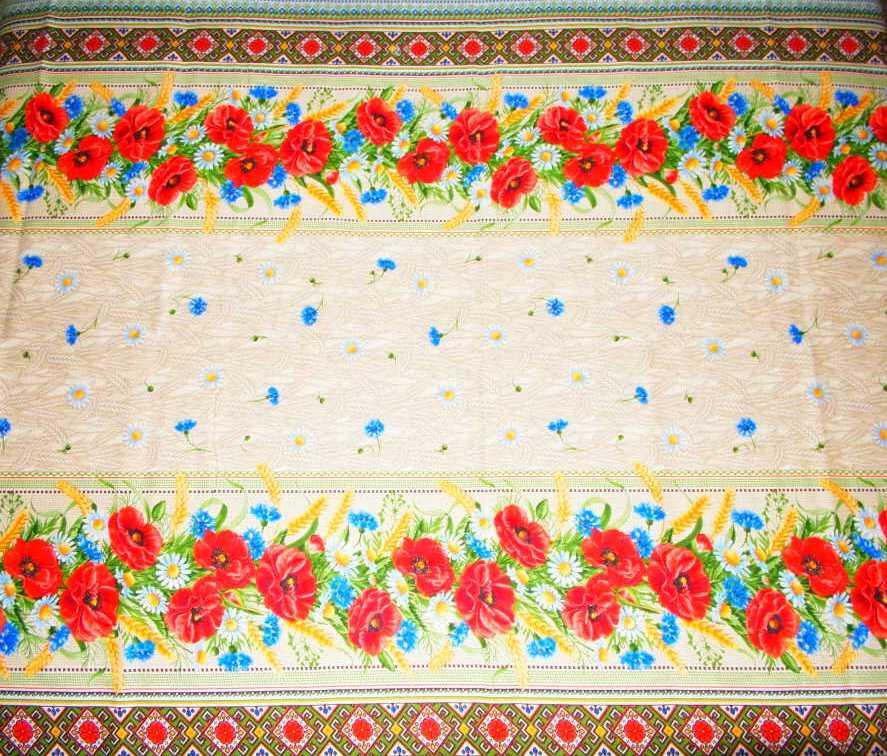 Льняная скатерть  120 x 150 разме
