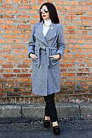 Женское демисезонное пальто Эмблема ворот елочка, женское пальто демисезонное,  дропшиппинг украина