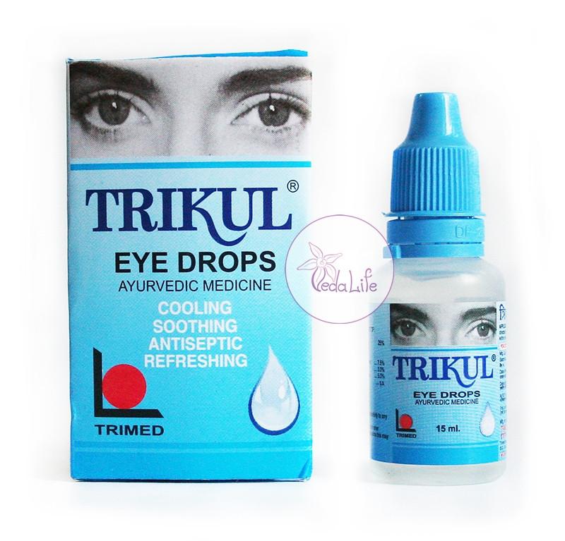 Глазные капли Трикул, Trikul, 15 мл - восстановление зрения, сухость глаз, профилактика инфекций
