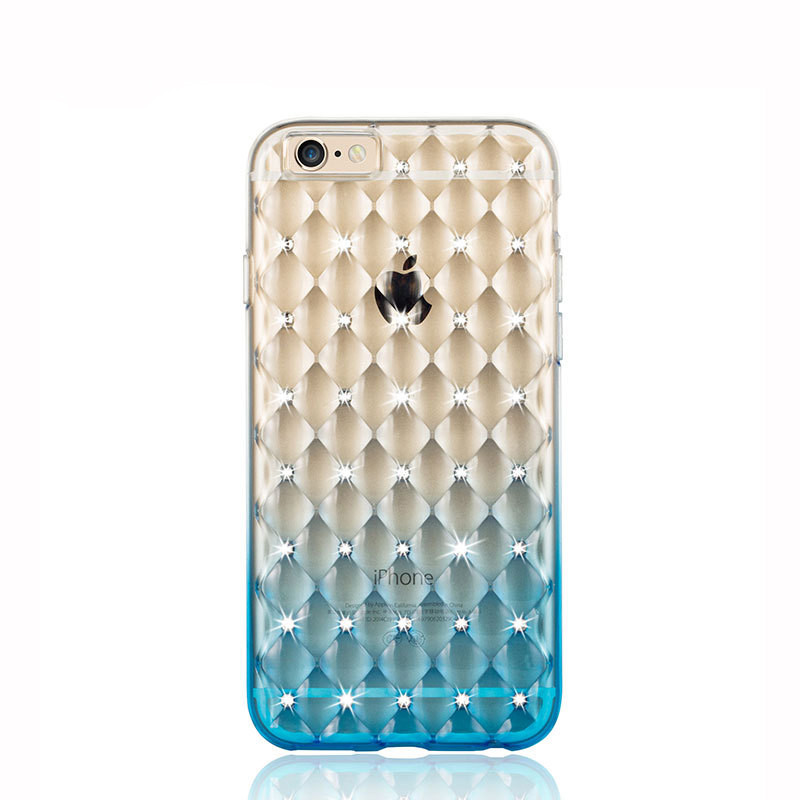 Luxury Gradient Rhinestone Case Blue для iPhone 5/5s