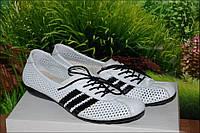 Балетки кроссовки летние кожаные М20Б в стиле Adidas размер 36