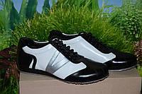 Туфли кроссовки кожа М44  качество размер 40