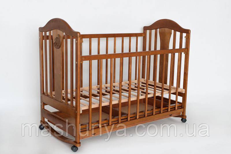 Детская кроватка Laska Наполеон New без ящика с качалкой