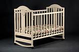 Детская кроватка Laska Наполеон New без ящика с качалкой, фото 3