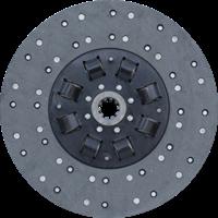 Диск ведомый муфты сцепления  МАЗ с двигателем ЯМЗ-238 с асбестовой накладкой 182-1601130