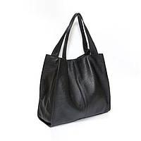 Шкіряна сумка модель 12 чорний флотар, фото 1