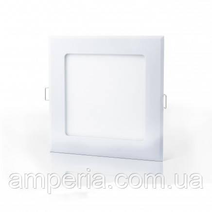 Евросвет Светильник LED-S-120-6 6Вт 4200К квадрат Встраиваемый 120*120мм