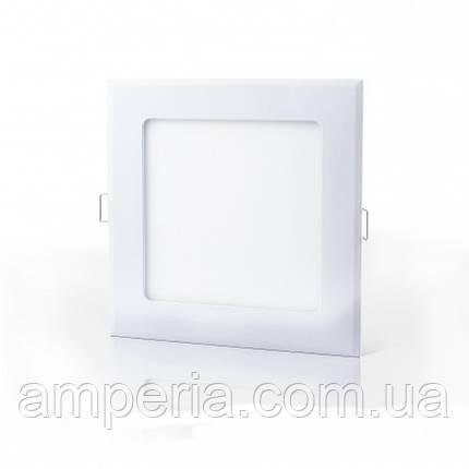 Евросвет Светильник LED-S-120-6 6Вт 4200К квадрат Встраиваемый 120*120мм, фото 2