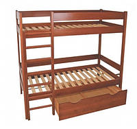 Кровать 2х-ярусная из массива ольхи (Темп)