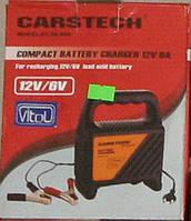 Зарядное устройство Carstech 6-12V 0-6A светодиод. Зарядное устройство для аккумулятора авто