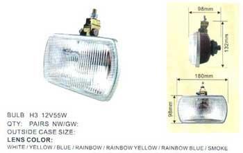 Дополнительные фары противотуманные DLAA 9837 W/ КАМАЗ , МАЗ , ГАЗ /H1-12V-55W/180*98mm пара
