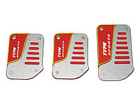 Накладки на педали KP-50 silver/red/yellow