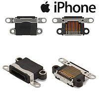 Коннектор зарядки для Apple iPhone 5, черный, оригинал