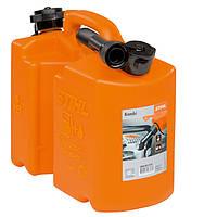 Канистра комбинированная Stihl оранжевая 5 л для топливной смеси и 3 л для цепного масла