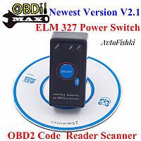 Адаптер ELM327 Bluetooth ver.2.1 c кнопкой
