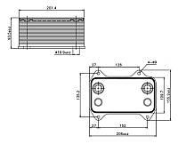 Радиатор масляный, теплообменник (маслоохладитель) DAF euro3 1387035,1667565 , NIS90690