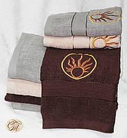 Полотенце для лица и рук Солнце на коричневом