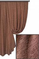 Ткань       Лен Софи 07 коричневый,  Турция