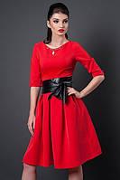 Платье Анжелика красного цвета, р 46,48,50