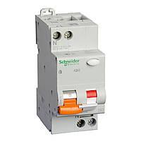 Автоматический выключатель дифференциальный SCHNEIDER АД63 2P(1+N) 40A C, 30mA, 11475