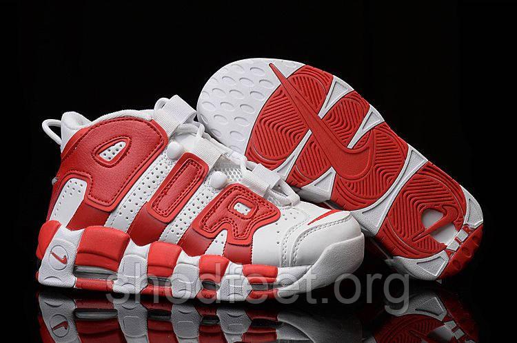 sneakers for cheap 8c574 6b59b nike more uptempo white on white billig