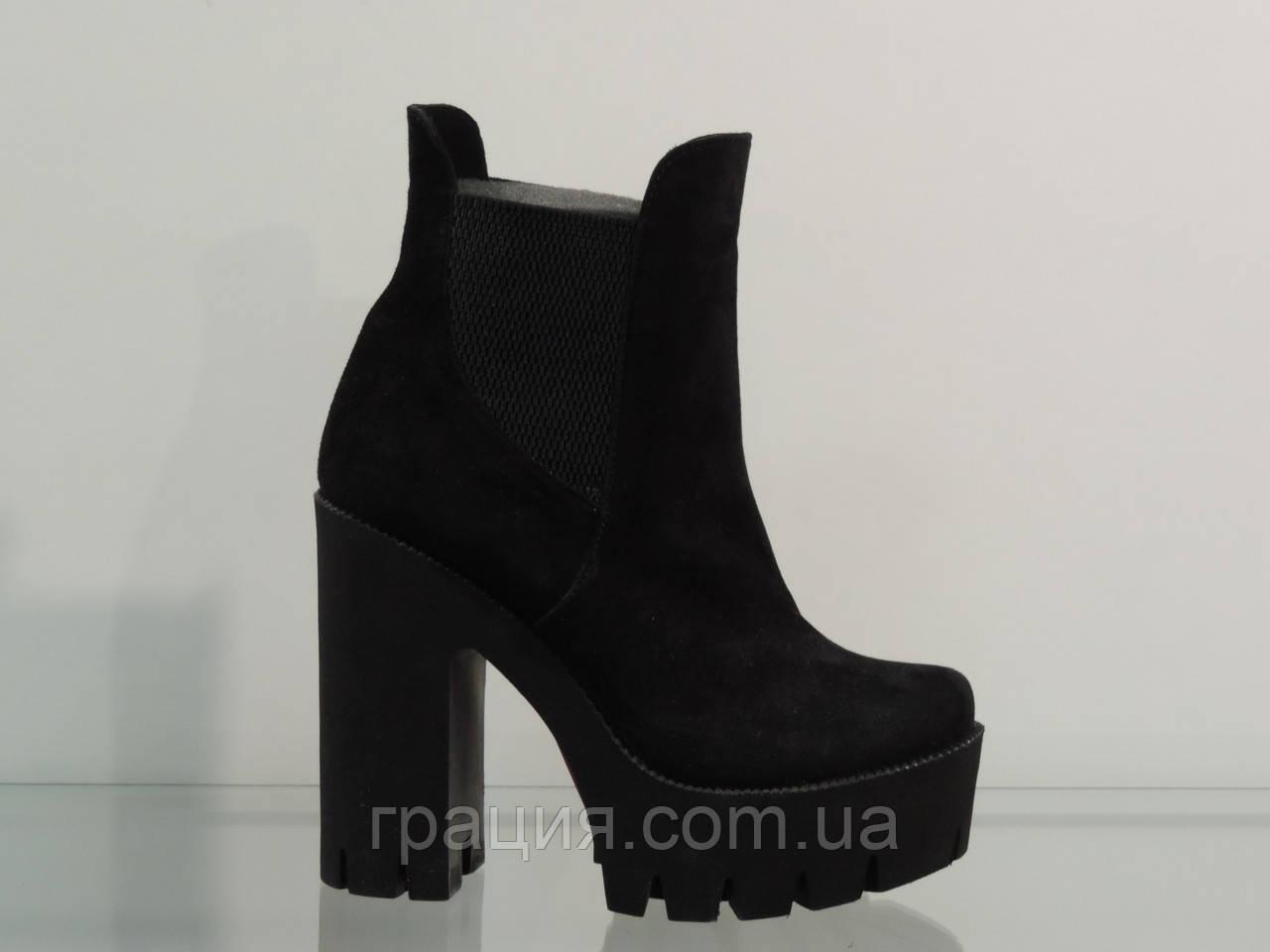 d79a1332 Ботинки молодежные замшевые на каблуке: продажа, цена в Конотопе ...