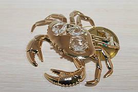 Фигурка с кристаллами Сваровски Краб 9 см AR-3940