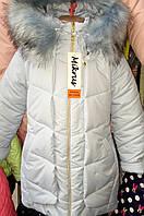 Зимняя подростковая удлиненная  куртка 7690