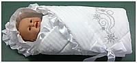 Конверт-одеяло на выписку Снежинка (зима).