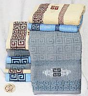 Полотенце банное Версаче серое