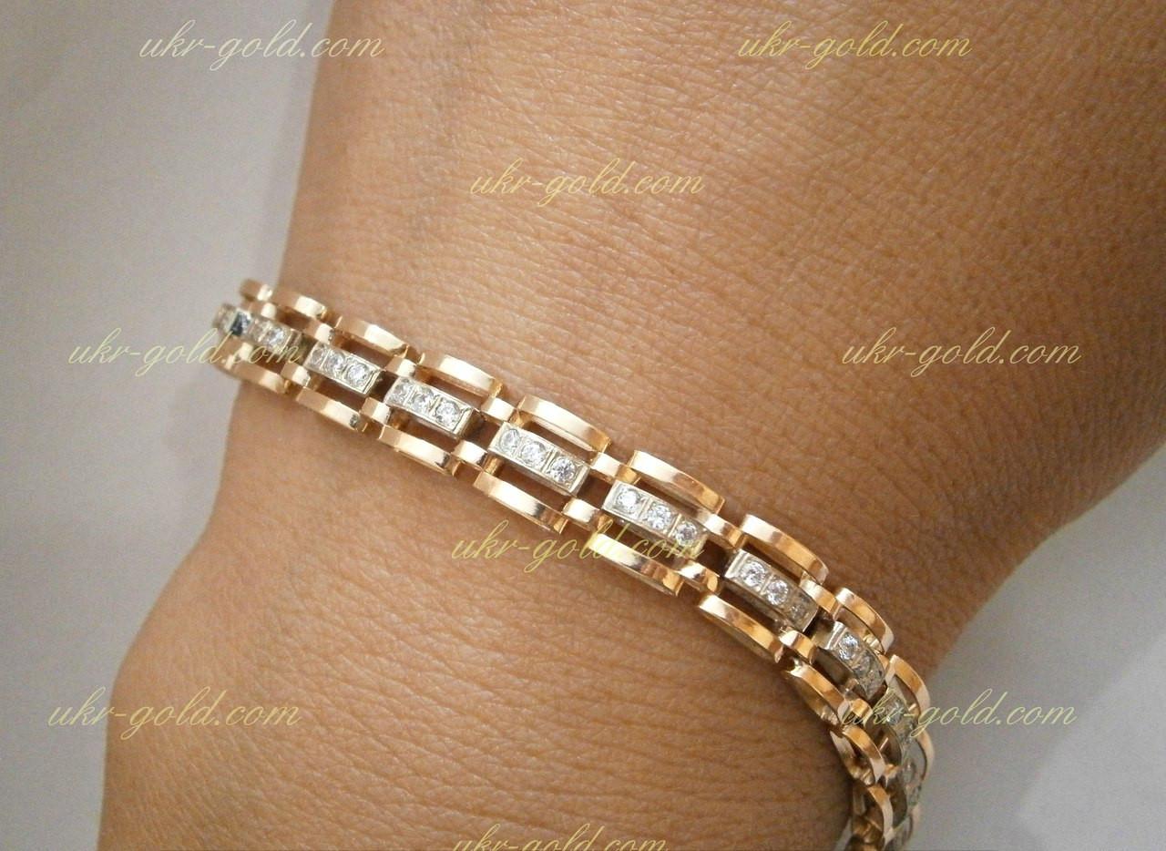 Золотой браслет с фианитами, цена 17 710 грн., купить в Одессе ... 5d44d6a9811
