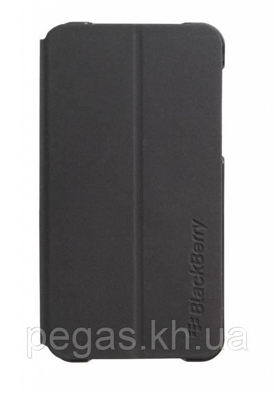 Чехол BlackBerry Z10 пластиковый флип. Черный