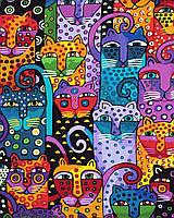 Картина-раскраска без коробки 40 кошек Худ Лорел Берч (BK-GX9372) 40 х 50 см