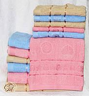 Полотенце банное Жжакард розовый