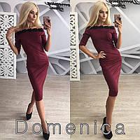 Женское нарядное платье с кружевом (+ большие размеры)