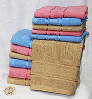 Полотенце банное Жжакард бежевый