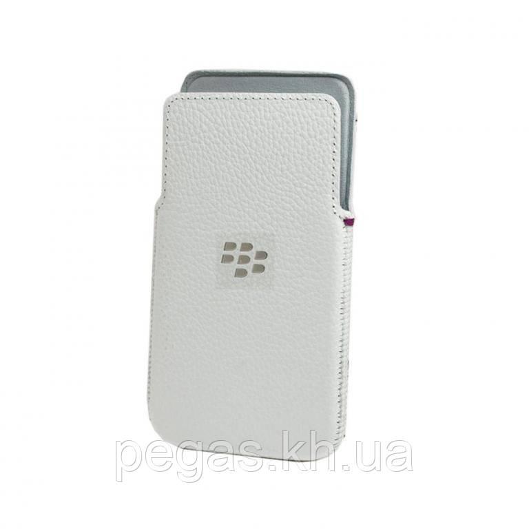 Кожаный чехол для Blackberry Z30.Белый! Эксклюзив!