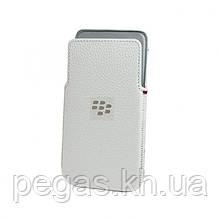 Шкіряний чохол для Blackberry Z30.Білий! Ексклюзив!
