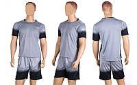 Форма футбольная без номера CO-1607-GR (PL, р-р M-XL, серый, шорты серые)