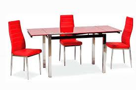 Стол стеклянный раскладной GD-017 красный (Signal ТМ)