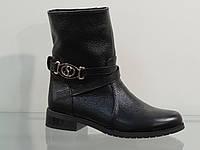 Ботинки молодежные кожаные без молнии 37