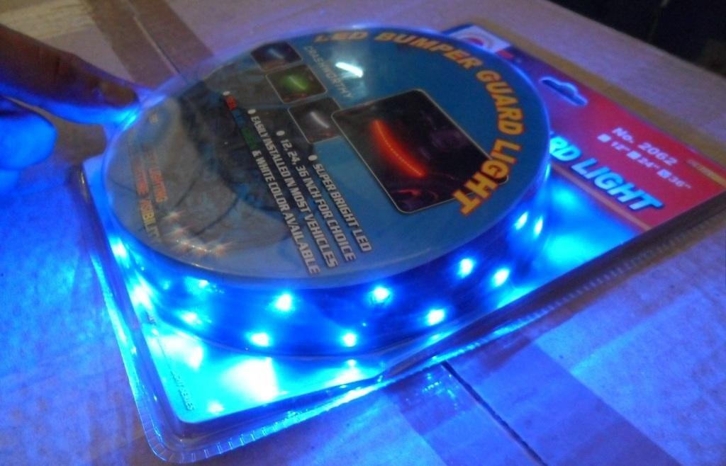 Подсветка гибкая CSL-2062B-12 12LEDх30см синяя/рез