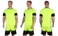Форма футбольная без номера CO-1607-LG (PL, р-р M-L, салатовый, шорты салатовые)
