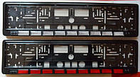 Рамка для номеров под стеклом с катафотом BAGIS Рамки для номерных знаков