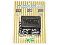 Термометр вольтметр автомобильный 12V Автомобильный термометр