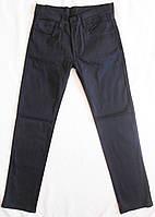 Брюки коттоновые темно-синие на мальчика, рост 134 - 164